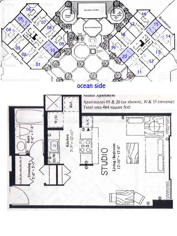 Discovery bay center honolulu hawaii condo by for Hawaii floor plans
