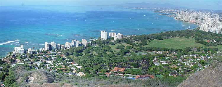Diamond Head and Kapiolani Park